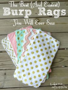 burp cloths link